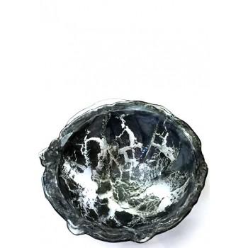 Голяма дълбока купа от ръчно стъкло