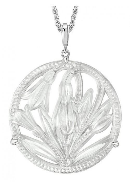 Дамско колие Lalique Fleur de neige pendant
