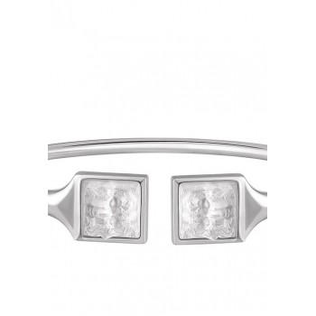 Lalique Arethuse Flexible гъвкава сребърна гривна с кристали