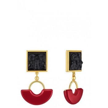 Lalique Arethuse обеци с черен кристал