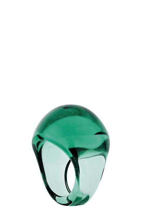 LALIQUE Cabochon марков дамски пръстен цвят мента
