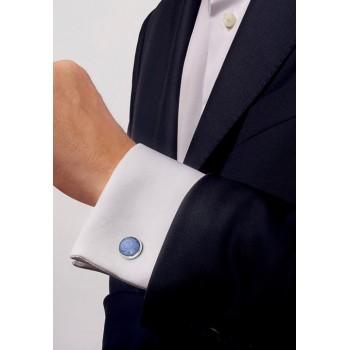 Lalique луксозни ръкавели Toupie Sapphire Blue