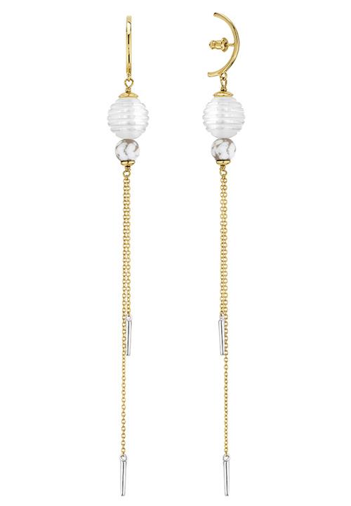 Дълги обеци Lalique със синджирче