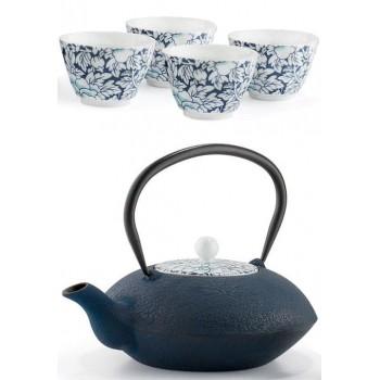 Чугунен чайник и чаши за японски чай - сервиз