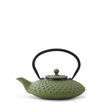 Чугунен чайник в зелен цвят