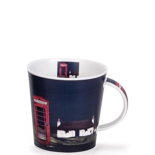 Порцеланова чаша Dunoon с червена английска телефонна будка