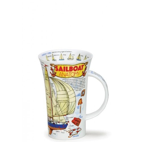 Порцеланова чаша Енциклопедична Dunoon Sailboat Anatomy