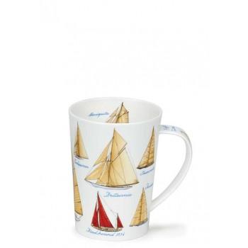 Порцеланова чаша Dunoon Argyll с яхти