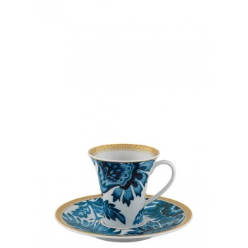 Exotic 2 луксозни чаши за кафе в тюркоаз и злато Vista Alegre
