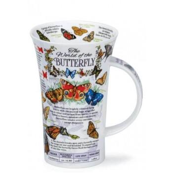 Английска порцеланова чаша с пеперуди Dunoon