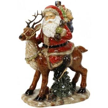 Дядо Коледа фигура от порцелан ръчно рисувана 37 см