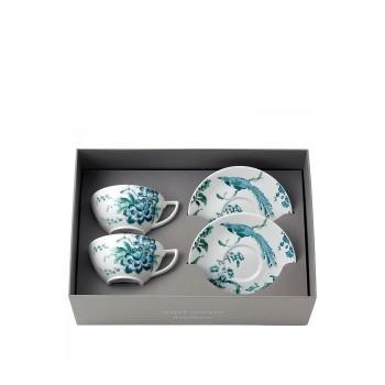 Wedgwood луксозен сервиз за чай костен порцелан