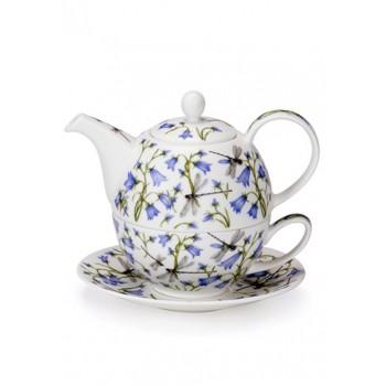 Сет за чай Dunoon Tea for One Harebell костен порцелан