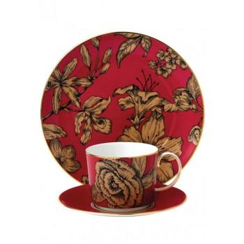 Wedgwood Vibrance сет за чай от три части цвят малина