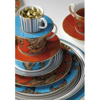 Wedgwood Vibrance сет за чай 3 части оранж