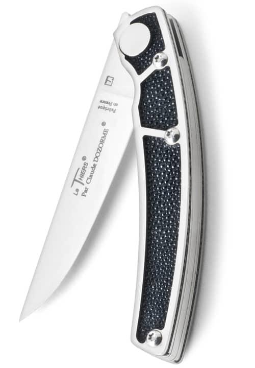 Сгъваем нож с дръжка от кожа скат