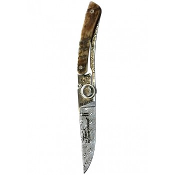 Сгъваем нож ДАМАСКА СТОМАНА Claude Dozorme
