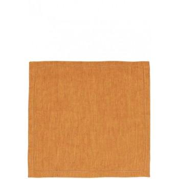 Луксозни салфетки от лен в златисто и червено