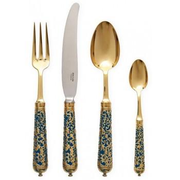 Ercuis L'Insolent луксозни позлатени прибори за хранене за 1 човек