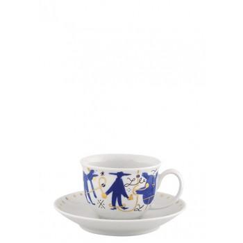 Чашка за кафе на дизайнера Хайме Хайон в синьо