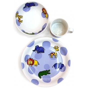 Детски порцеланов комплект за хранене 3 части