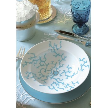 Raynaud Cristobal Turquoise Луксозен сервиз за хранене за 6 души