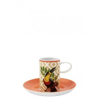 Brasil луксозен комплект от 2 чашки за кафе с тукан