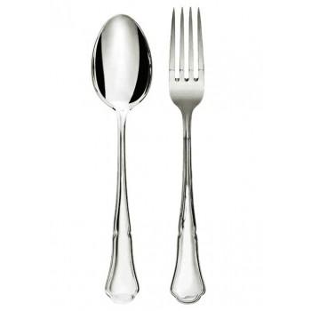 Baroc сребърен комплект детски лъжичка и виличка